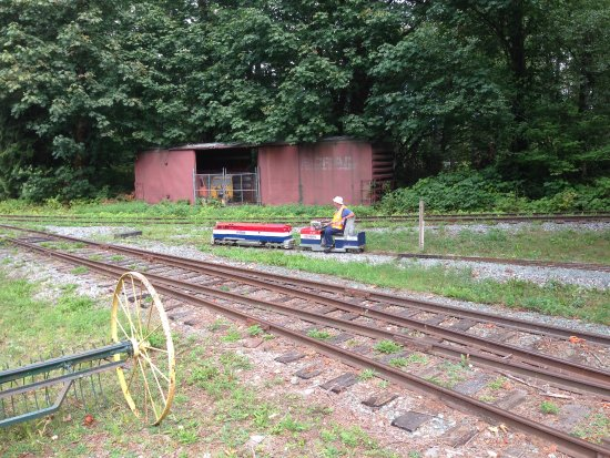 Squamish, Kanada: A ride on the railway... small gauge that it.