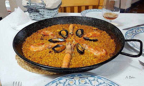 La Riua : Paella de marisco para dos