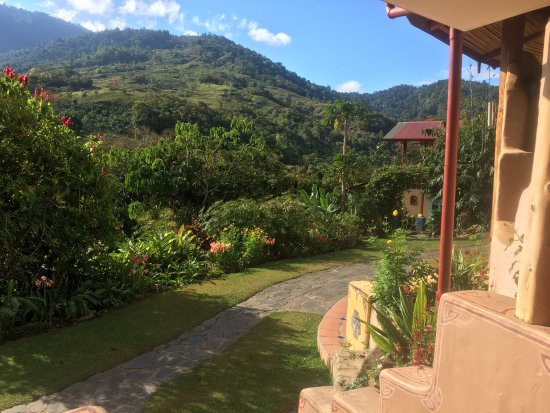 San Gerardo, Costa Rica: View from the common area