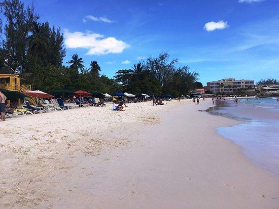 Christ Church Parish, Barbados: Accra Beach in front of the Tiki Restaurant