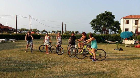 Ierissos, Yunanistan: εκδρομή με ποδήλατα ιερισσός