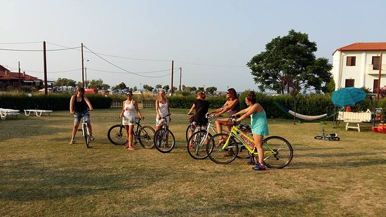 Ierissos, Hellas: εκδρομή με ποδήλατα ιερισσός