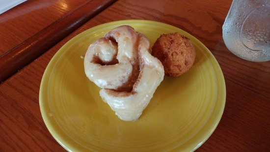 Port Orange, FL: Plus all meals come with a Hush Puppy and a Cinnamon Roll