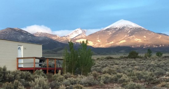 Baker, NV: View of Great Basin National Park from your private deck.