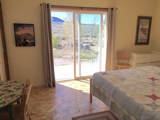 Baker, NV: View from The Bunkhouse bedroom.
