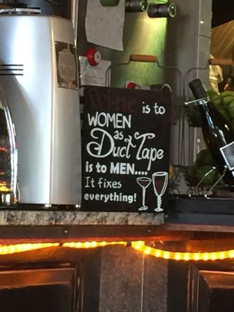 Pump House Station Urban Eatery Mar Wine Is To Women As Duct Tape
