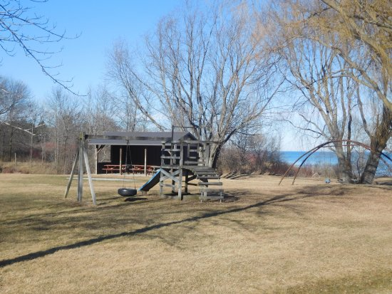 Two Rivers, WI: Picnic Shelter with Old School Playground.