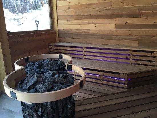Sainte-Rose-du-Nord, Canada: 2e visite à cet endroit sublime! Nouvelle piscine avec sauna qui offrent une vue magnifique sur