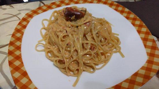 Terricciola, Ιταλία: Linguine al granchio (8.50€)