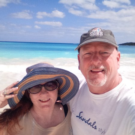 Sandals Emerald Bay Golf, Tennis and Spa Resort: What better backdrop for a selfie?