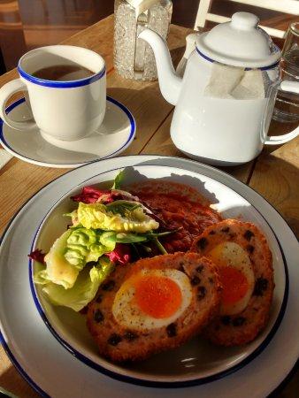Burscough, UK: Black pudding scotch egg