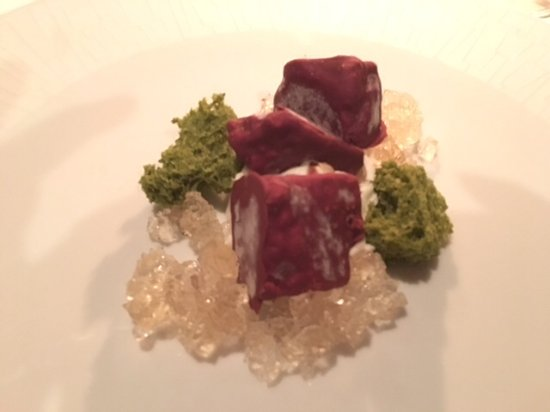 La Mer -  L'Aperitif: Cassis semifreddo with Apple gelee