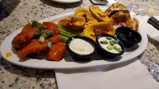 Coon Rapids, MN: Loaded potatoe skins, pot stickers, chicken wings