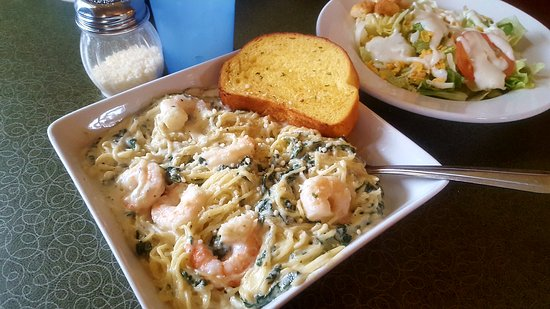 Monroe, WI: Italian Angel with shrimp
