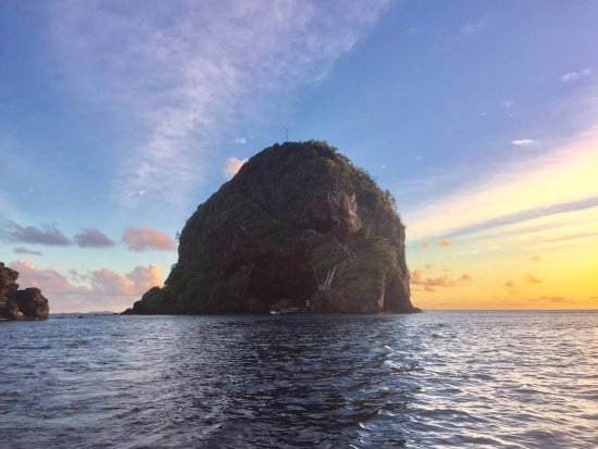 The Island that Fort Duvernette is on, at sunset, February 2017
