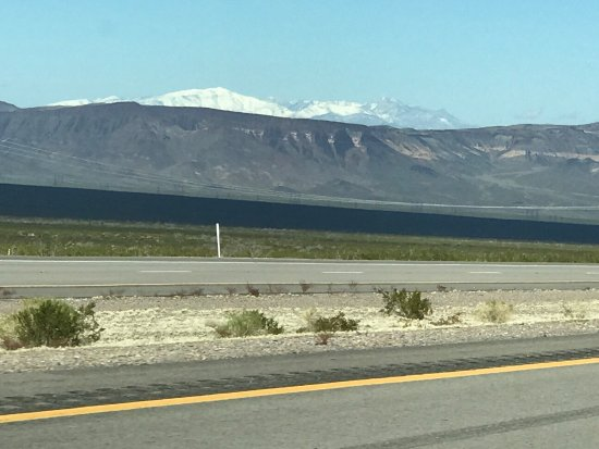 Searchlight Nugget Casino: Scenery from road in February 2017.