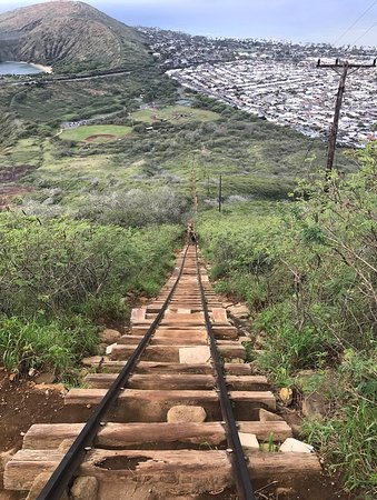 Discover Hawaii Tours: The view from the halfway point, on the way down.