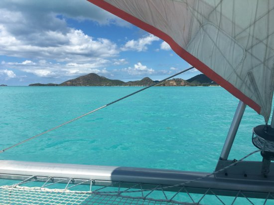 Jolly Harbour, Antigua: On the way back in