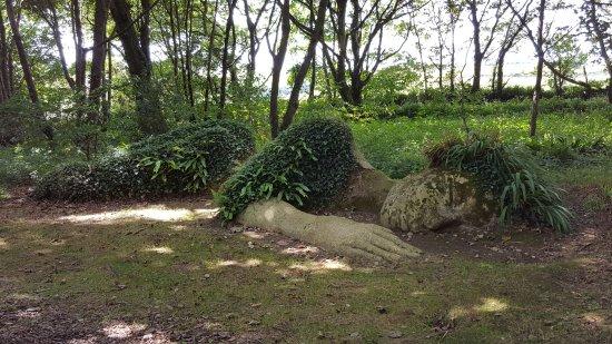 St Austell, UK: The sleeping lady!