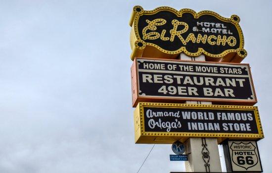 Gallup, NM: Hotel El Rancho sign.