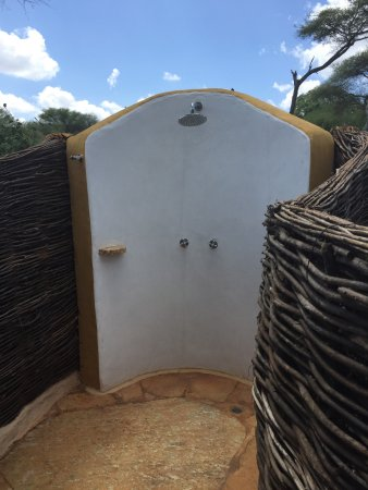 Sanctuary Swala Our Amazing Outdoor Shower Always With Plenty Of Hot Water