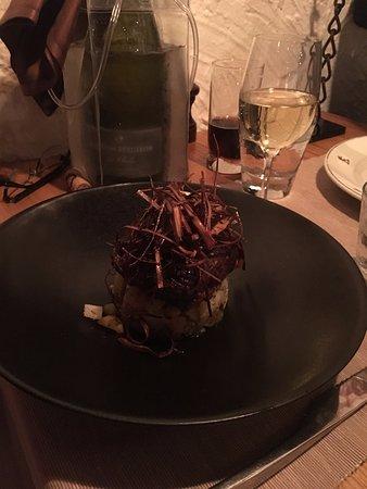 Saint-Martin-de-Belleville, France: Beef in Filet, Fingergling Potatoes & Glazed Vegetables