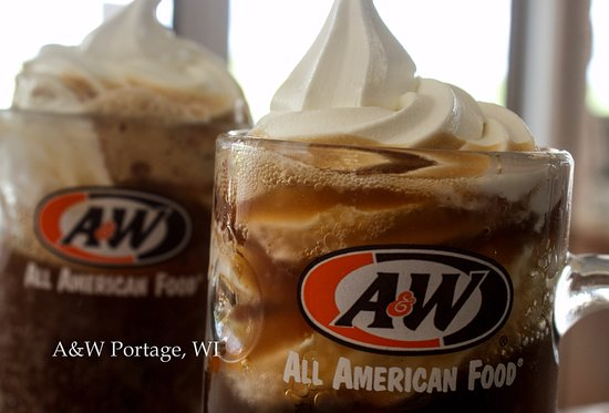 Portage, WI: A&W Root Beer Floats