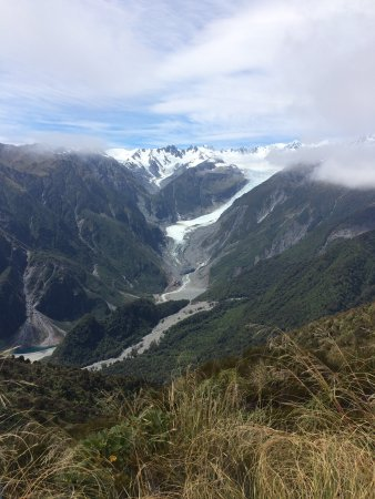 Fox Glacier, Selandia Baru: View from the top of Mt Fox