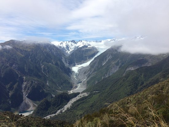 Fox Glacier, New Zealand: View from the top of Mt Fox