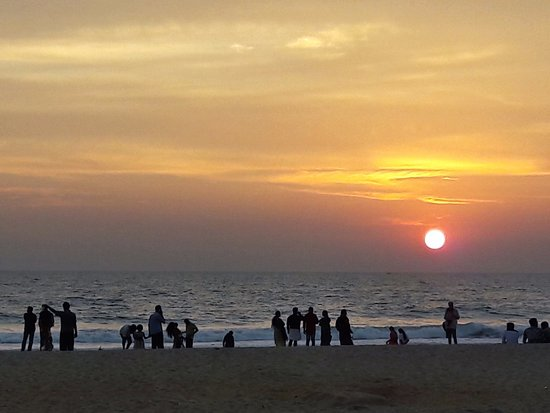 Villa Jacaranda: Sunset in Varkala´s beach
