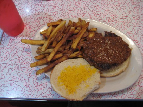 Lock Haven, PA: Texas fried Hamberger with French fries