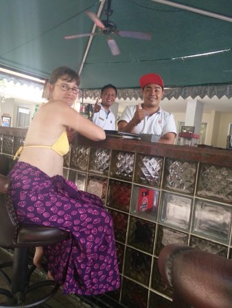 Our awesome bar men at Kuta Station Hotel