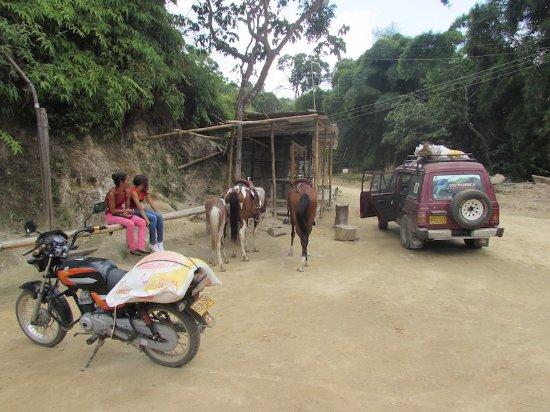 Minca, Colombia: Water break at the village El Campino