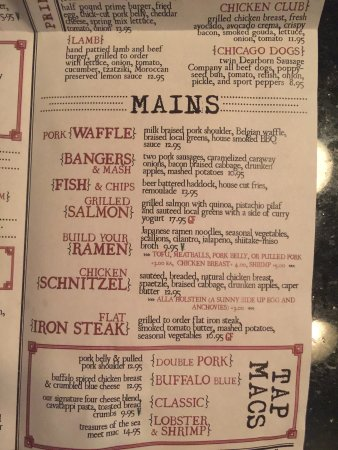 Kalamazoo, MI: Tap house menu