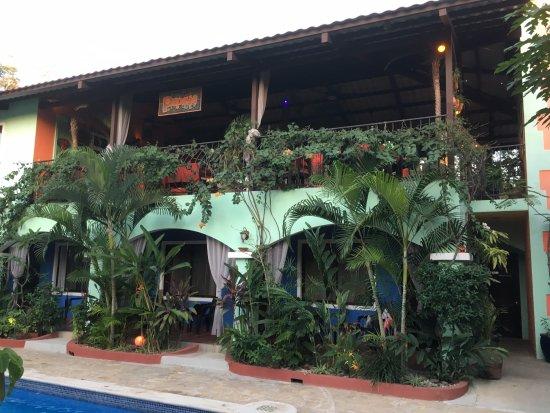 Brasilito, Costa Rica: En haut restaurant