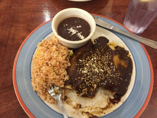 Souderton, Pensilvania: This is the mole chicken after I already began to dig in. Very good!