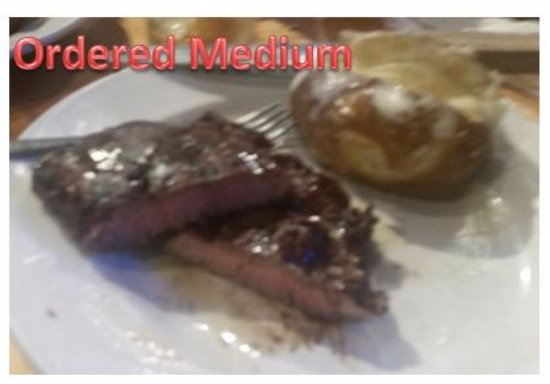 NOT Medium Cooked - OVERCOOKED DRY AND TASTELESS - Logan's Roadhouse Southaven MS