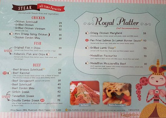 Food Menu Picture Of Giggle Box Cafe Resto Surabaya Tripadvisor