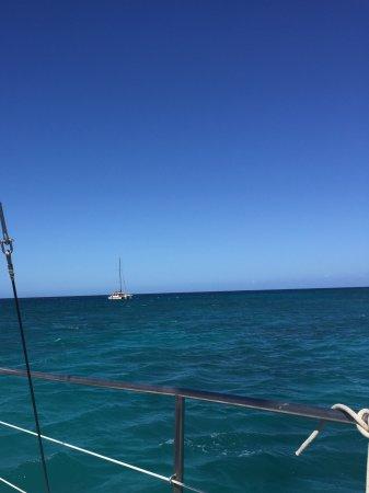 Ocean Sports Snorkel Adventure: On the boat