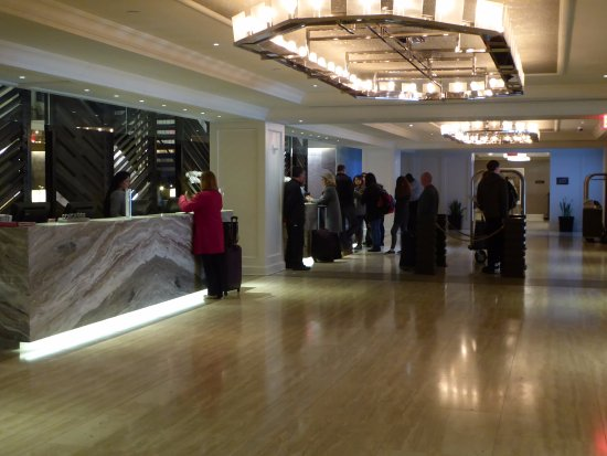 Park Central Hotel New York : Lobby Showing Registration Desk and Conceirge