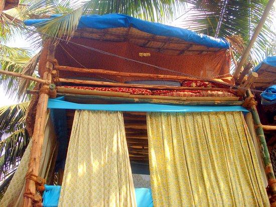 Anjuna, India: tree house room