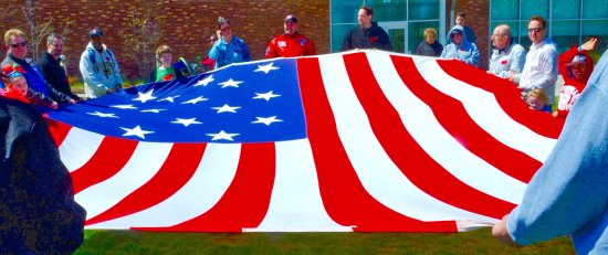 Fort McHenry National Monument: Visitors get a lesson on the flag and get to hold it.