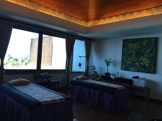 Spa at The Samaya Seminyak: 海の見える部屋です。