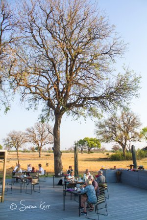 Hwange National Park, Zimbabwe: Beautiful al-fresco dining for breakfast with made to order hot food and a great selection at th
