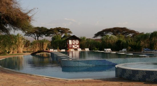 Kilima Safari Camp: Love the view of Kilimanjaro from the pool
