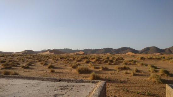 espectaculares vistas de las dunas desde la terraza