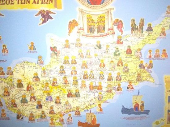 Larnaka District, Cypr: Карта святых угодников Божиих острова Кипра