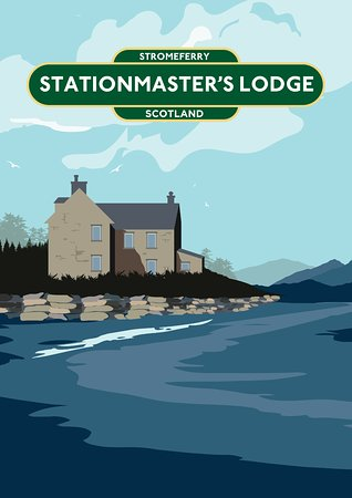 Stromeferry, UK: Stationmasters Lodge holiday house overlooking Loch Carron near Skye Scotland