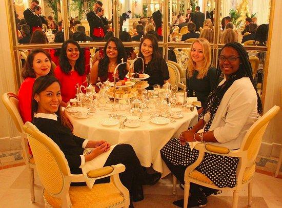 Tea at the Ritz: Our tea table