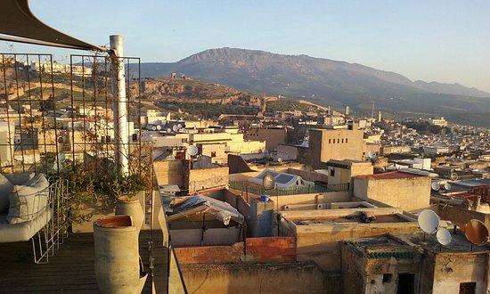 Riad Fes - Relais & Chateaux: Vue de la terrasse
